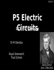 P5 Electric Circuits