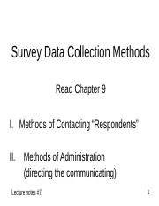 BB Slides - Notes 07 - Survey Respondent Contact vs Administration Method.ppt