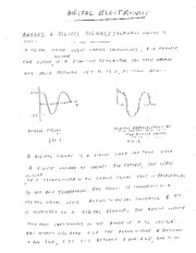EE 3N03 Digital Electronics Notes