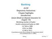 BankingCh02-NotesDepositoryInstitutions