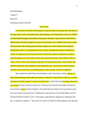 Final Draft- Exporatory Essay First Draft (ENC1102)