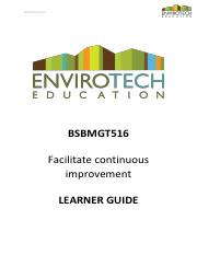 LEARNER GUIDE - BSBMGT516 - Facilitate continuous improvement .pdf
