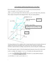 14.4 Gradients and Directional Derivatives in the Plane