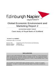Global Economic Environment and Marketing Report_2.docx