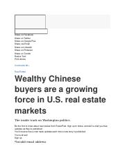 Wealthy Chinese buyers are a growing force in U_S_ real estate markets - The Washington Post