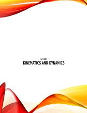 Chapter 4 - Kinematics and Dynamics