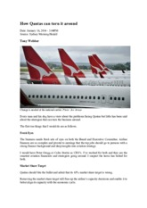 How Qantas can turn it around