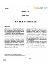 0001 Jpg 961280 Crackact Com Practice Test Form 96520 The Act Assessment Directions This Booklet Contains Tests In English Mathematics Reading And Course Hero Real act tests pdf download: course hero