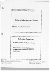 Natural Influences on Climate