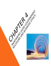 Chapter 4 - Maintaining Good Governement Relations and Business Ethics.ppt