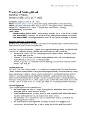 SYLLABUS-ArtofGettingHired-Fall2017-UPDATED9.14.17.docx