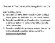 Chapter 3 The Chemical Building Blocks of Life 2011