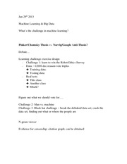 Lecture Notes 7 : Machine Learning & Big Data
