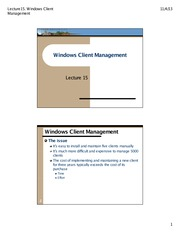 15.Windows Client Mgmt