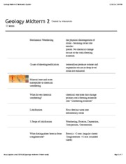 Geology Midterm 2 flashcards | Quizlet