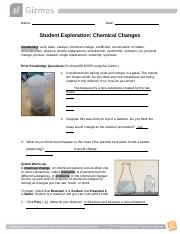 Gizmos - Chemical Changes.docx