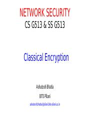 Lecture 3- Classical Encryption