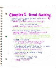 Chapter 5 Great Gatsby Notes