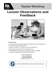 Lesson Observations.doc