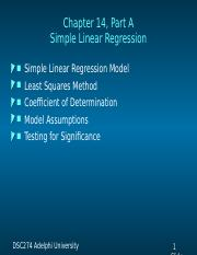 274Chap014-Simple Linear Regression