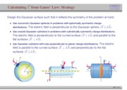 51. Calculating Electric Field from Gauss' Law- Strategy