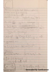 Sequences and Series Lecture Notes