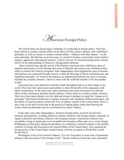 Lesson 13 Readings - Foreign Policy