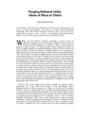 Week+8_Dikotter_Forging+national+unity-Ideas+of+race+in+China