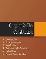 US Government Chapter 2 The Constitution Summer 2018.pptx