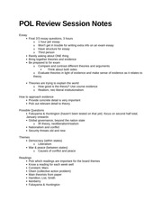 TA Review Session Notes