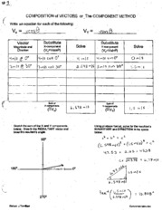 Physics Composition of Vectors 1