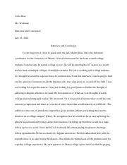 Project 2 interview and conclusion.docx