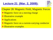 Phys 0175 - Lecture 21
