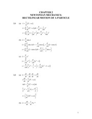 Analytical Mech Homework Solutions 12