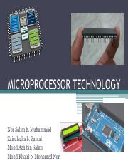 Microprocessor Technology f