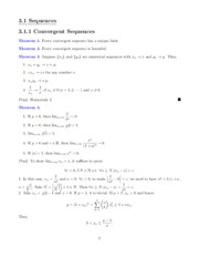 Math 501 Chapter 3 Sequences Notes