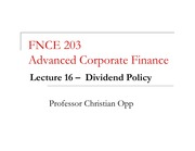 16 -- Dividend Policy