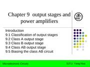 chapter 9 _output stages and power amplifiers
