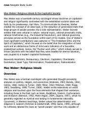 Max Weber_ Religious Ideals & the Capitalist Society Research Paper Starter - eNotes.pdf