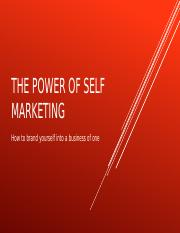 The power of self Marketing.pptx