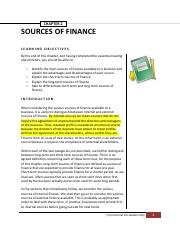 Finance Chapter 2source of Finance