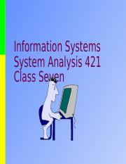 IS421 08 Class Lecture.ppt