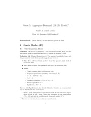 S15_102_Notes_5_Aggregate_Demand__IS_LM