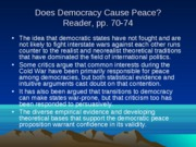 Does Democracy Cause Peace