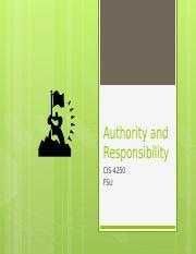 Authority and Responsibility 17sep13