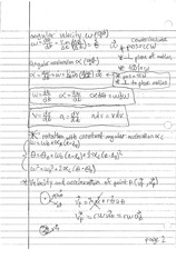 ANGULAR VELOCITY NOTES