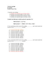 chem exam 3 answers- Spring 2006 - Sparks