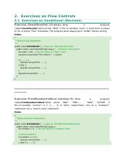 Exercises on Conditionals