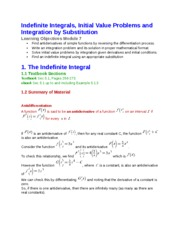 7 Indefinite Integrals