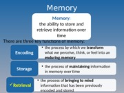 Lecture 14 Memory Learning to post